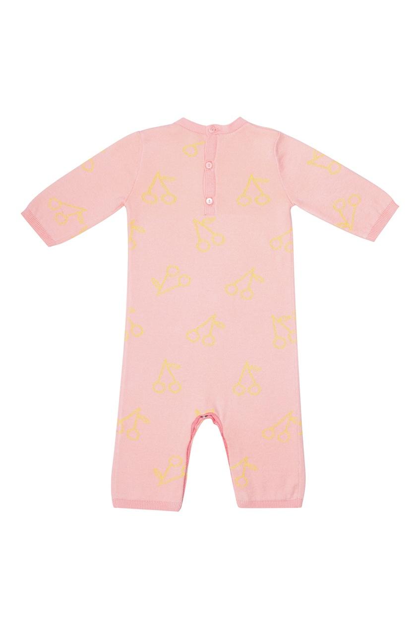 Розовое хлопковое боди