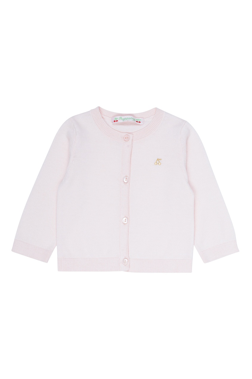 Розовый хлопковый кардиган