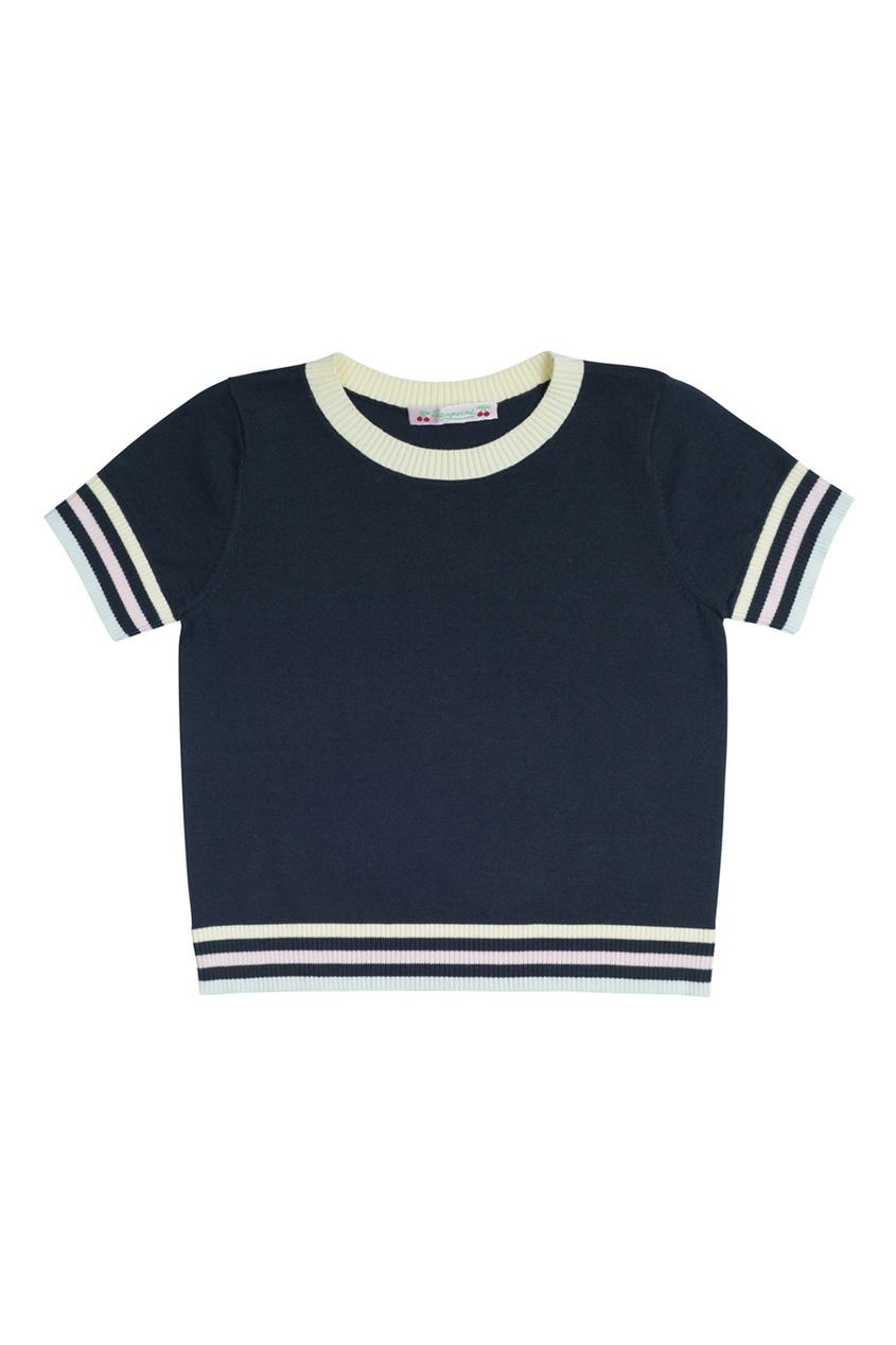Bonpoint Черный хлопковый пуловер bonpoint кожаный портфель с контрастными деталями