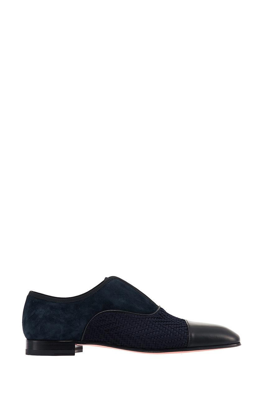 мужские туфли christian louboutin, синие