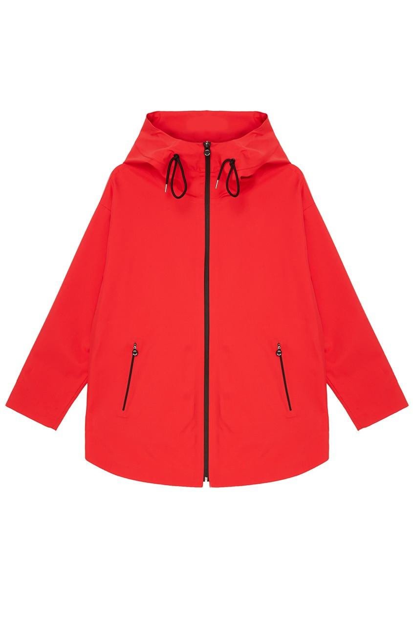 Max Mara Красная ветровка с капюшоном max mara драповая куртка на молнии osteo