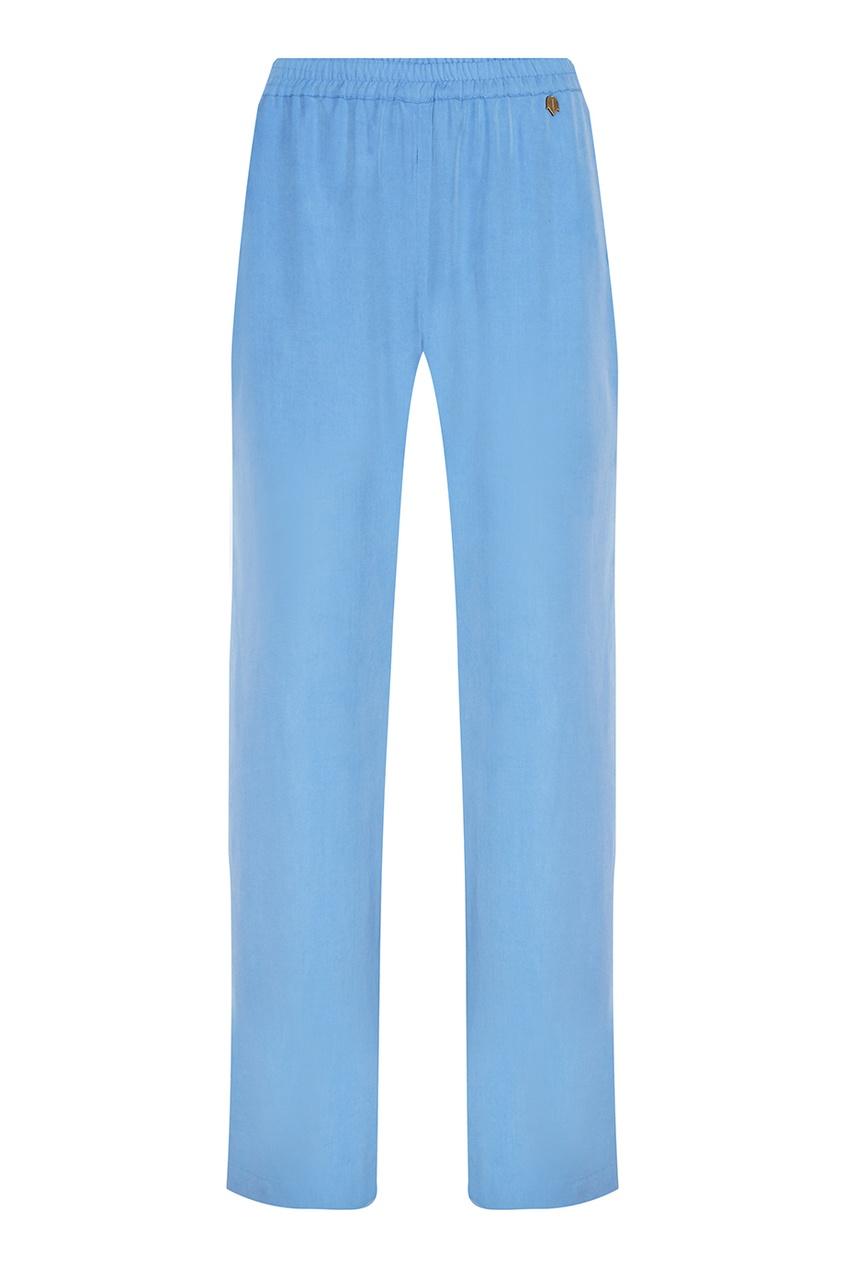 Широкие голубые брюки