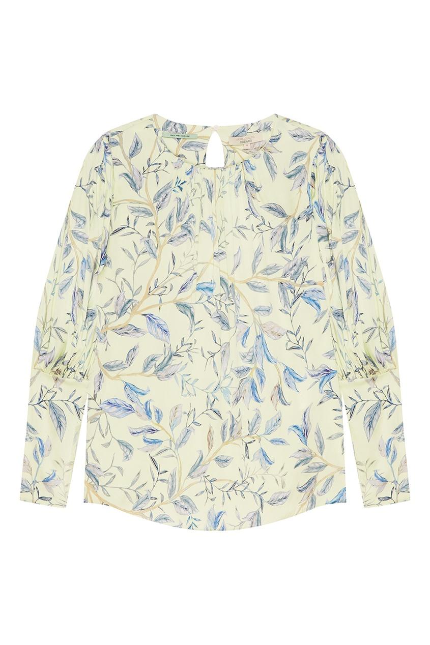 Шелковая драпированная блузка