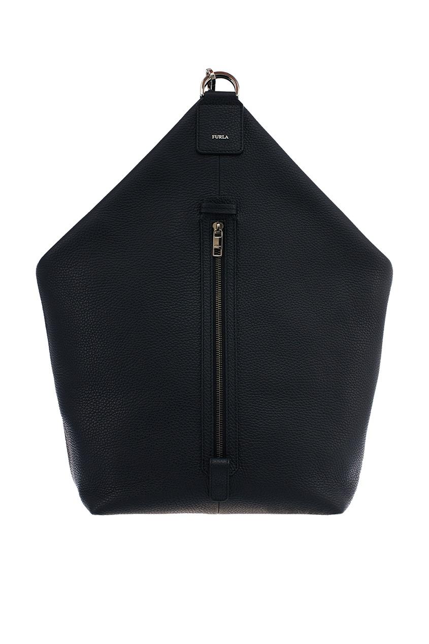 Купить со скидкой Черная кожаная сумка Man Icario