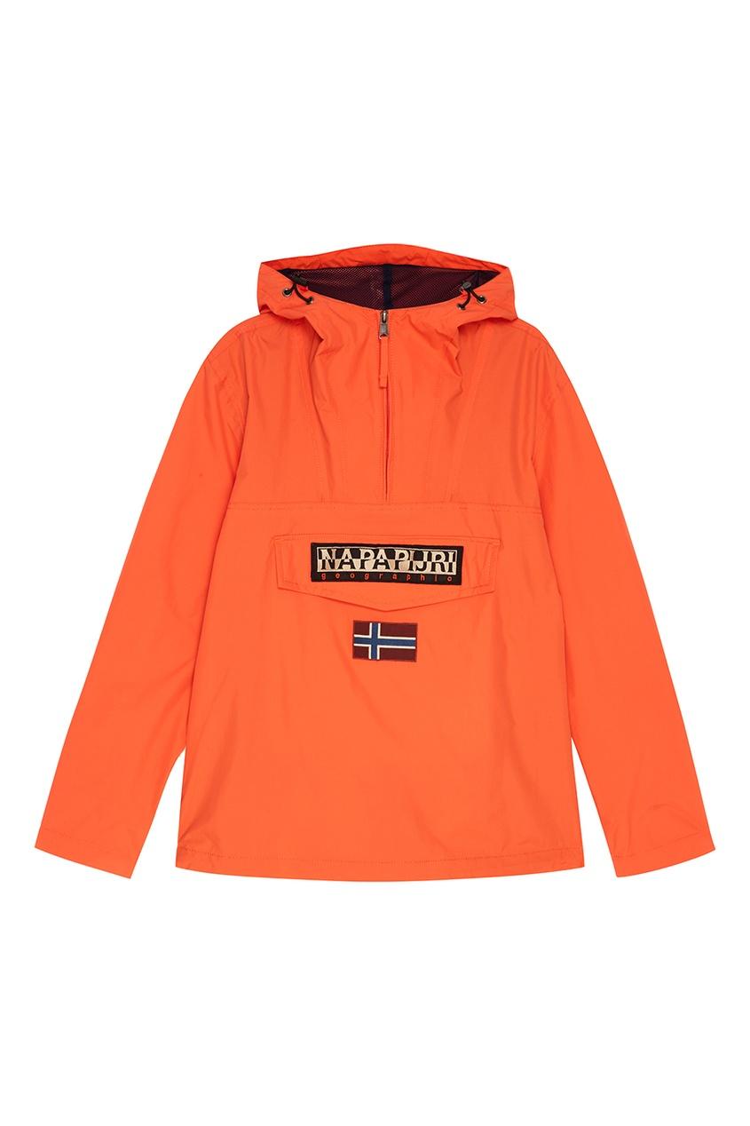 Napapijri Оранжевый анорак с логотипом мужской пуловер sinosigma 2015 star napapijri fit type