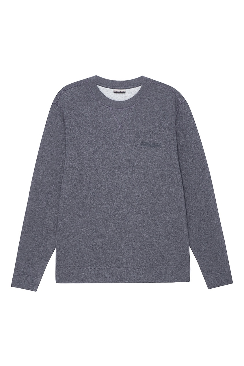 Napapijri Серый хлопковый свитшот мужской пуловер sinosigma 2015 star napapijri fit type