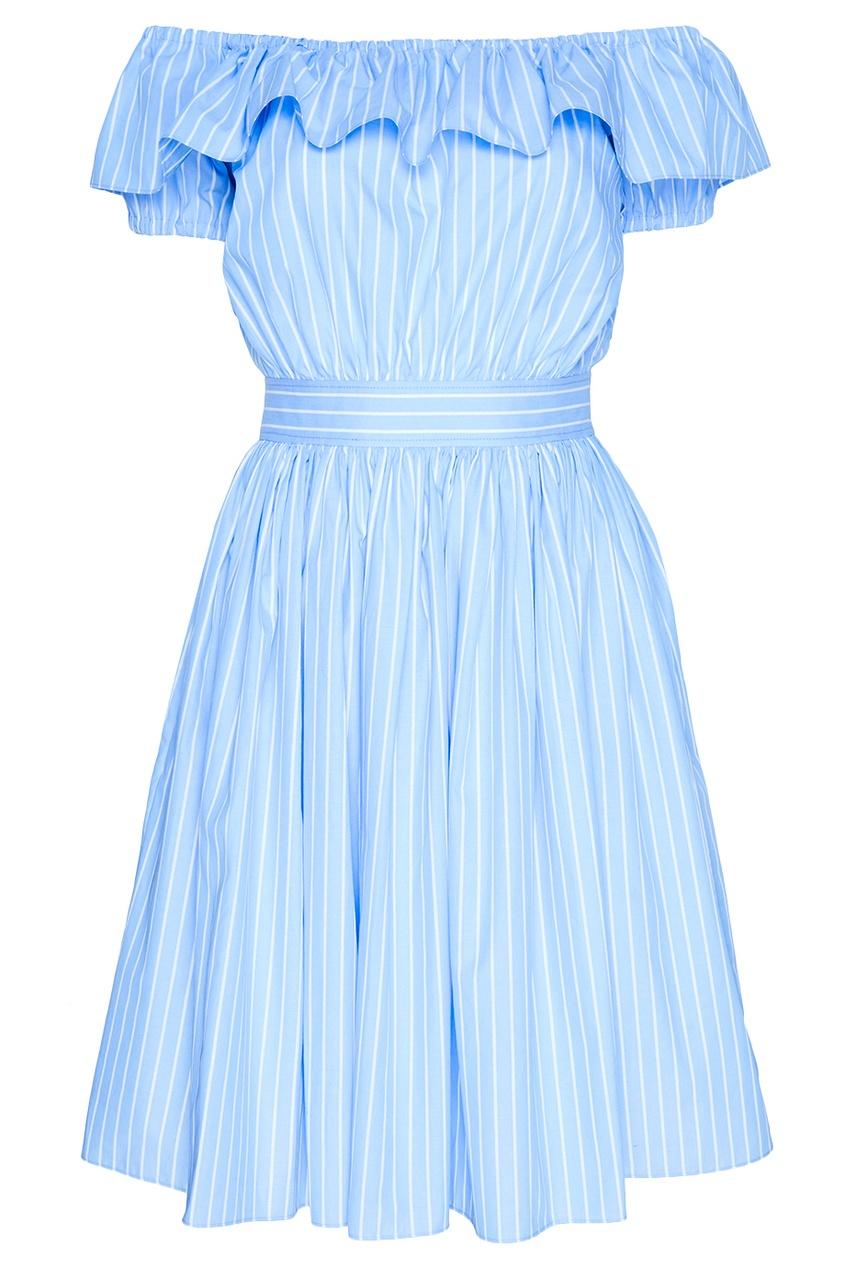 Miu Miu Асимметричное платье в полоску miu miu платье от miu miu 71748