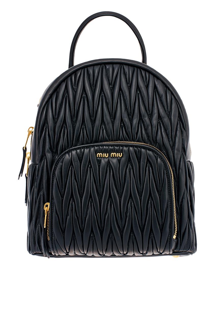 Miu Miu Кожаный рюкзак с рельефной отделкой kenzo юбка с рельефной отделкой