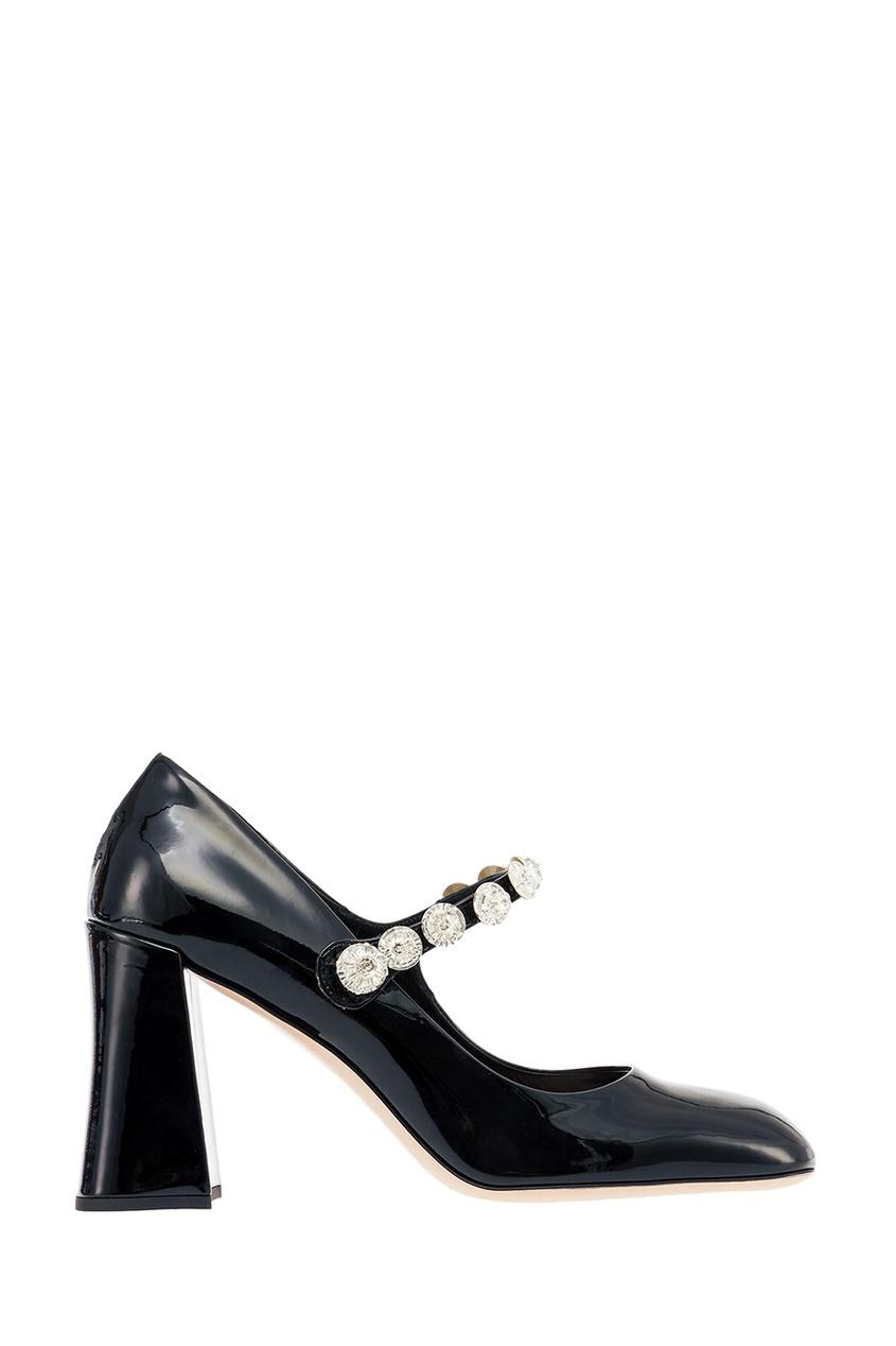 Лакированные туфли с кристаллами