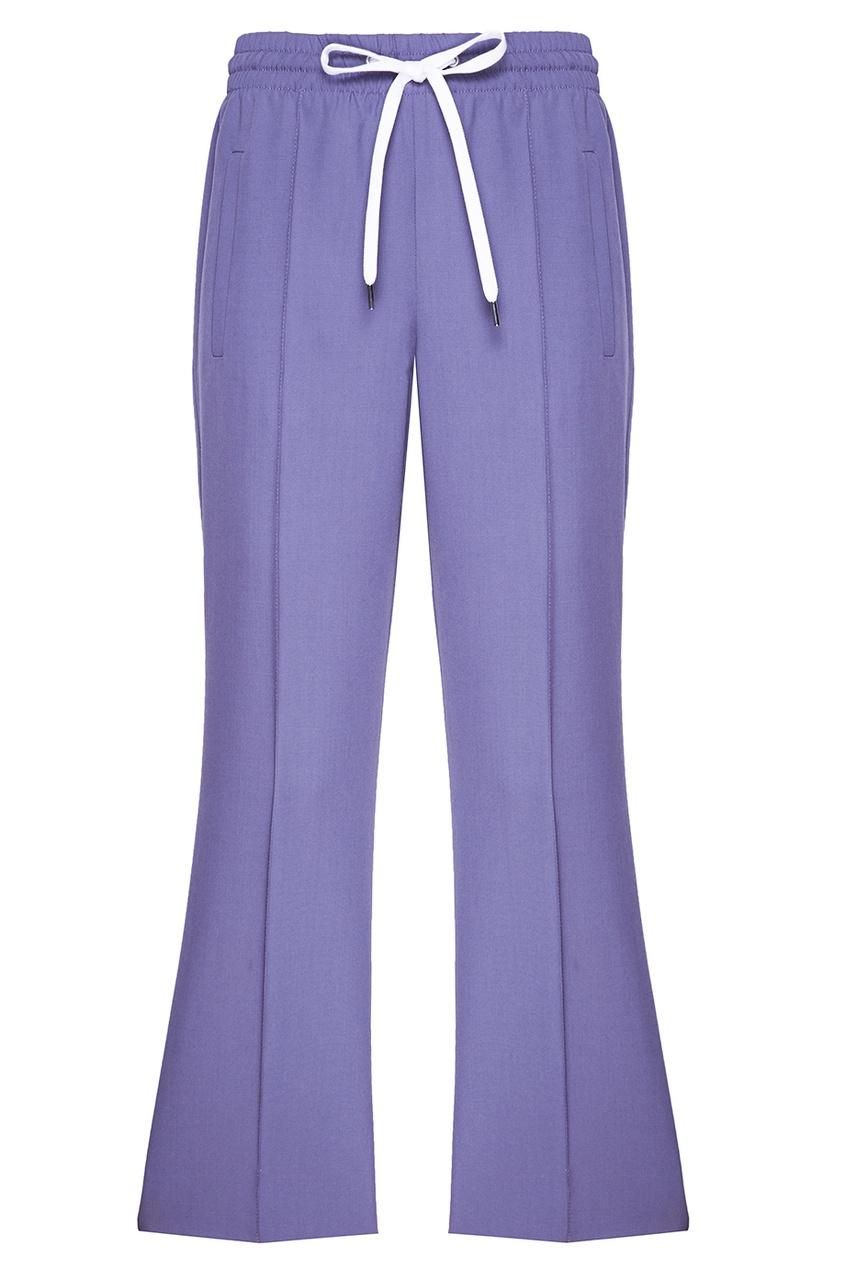 Miu Miu Серые брюки в спортивном стиле