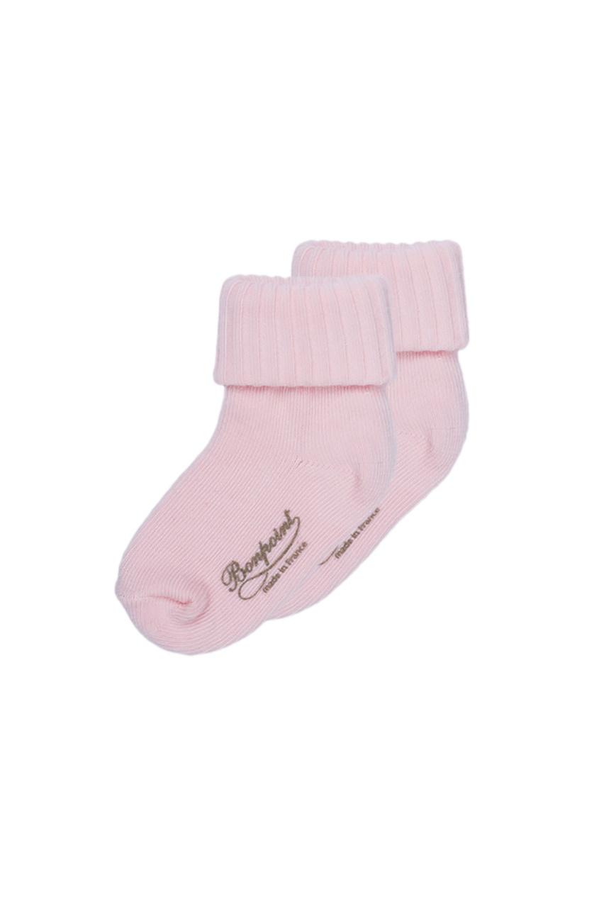 Bonpoint Розовые хлопковые носочки bonpoint вельветовые розовые брюки cookie
