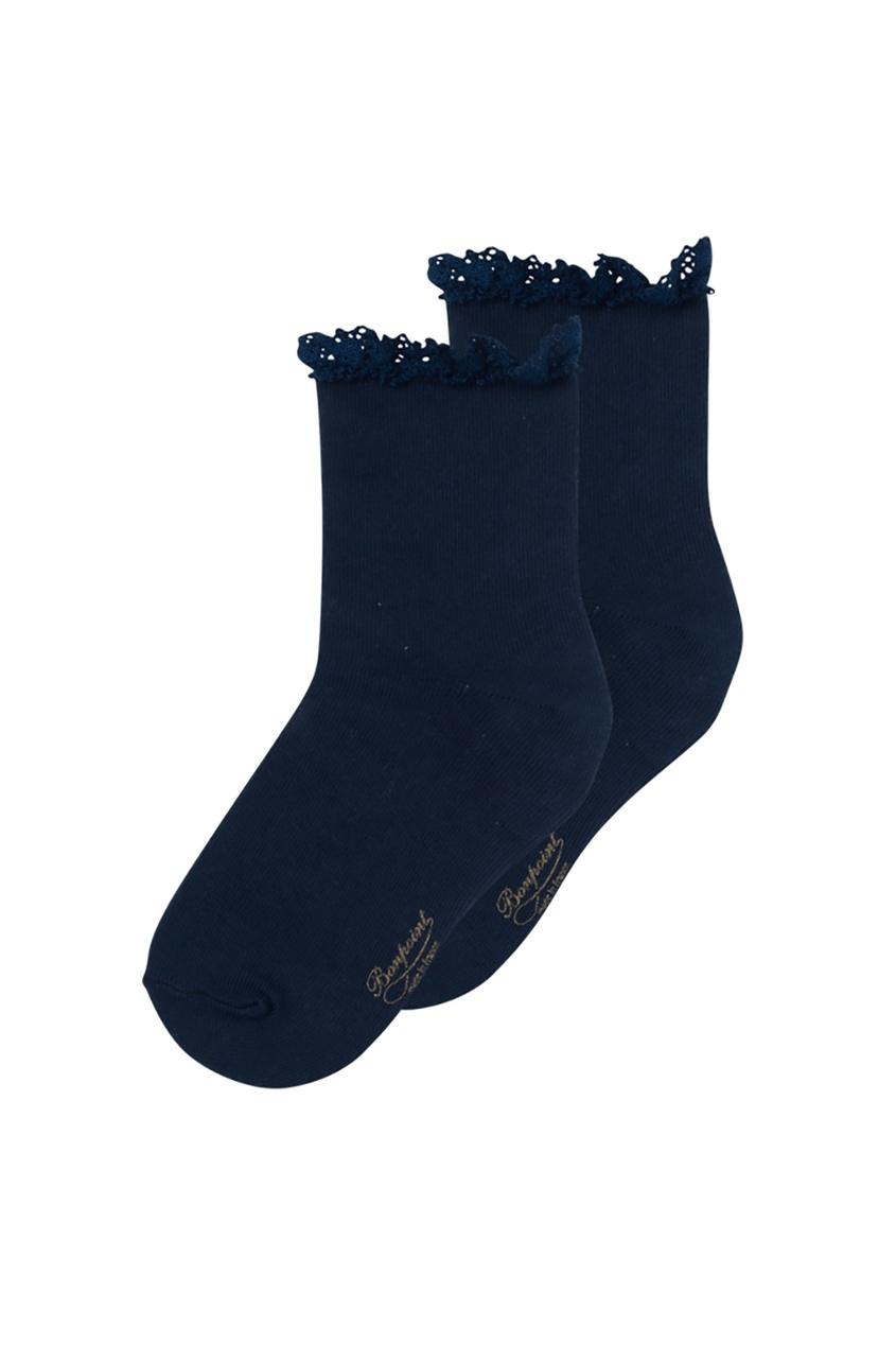 Bonpoint Синие хлопковые носочки bonpoint синие сабо в горошек