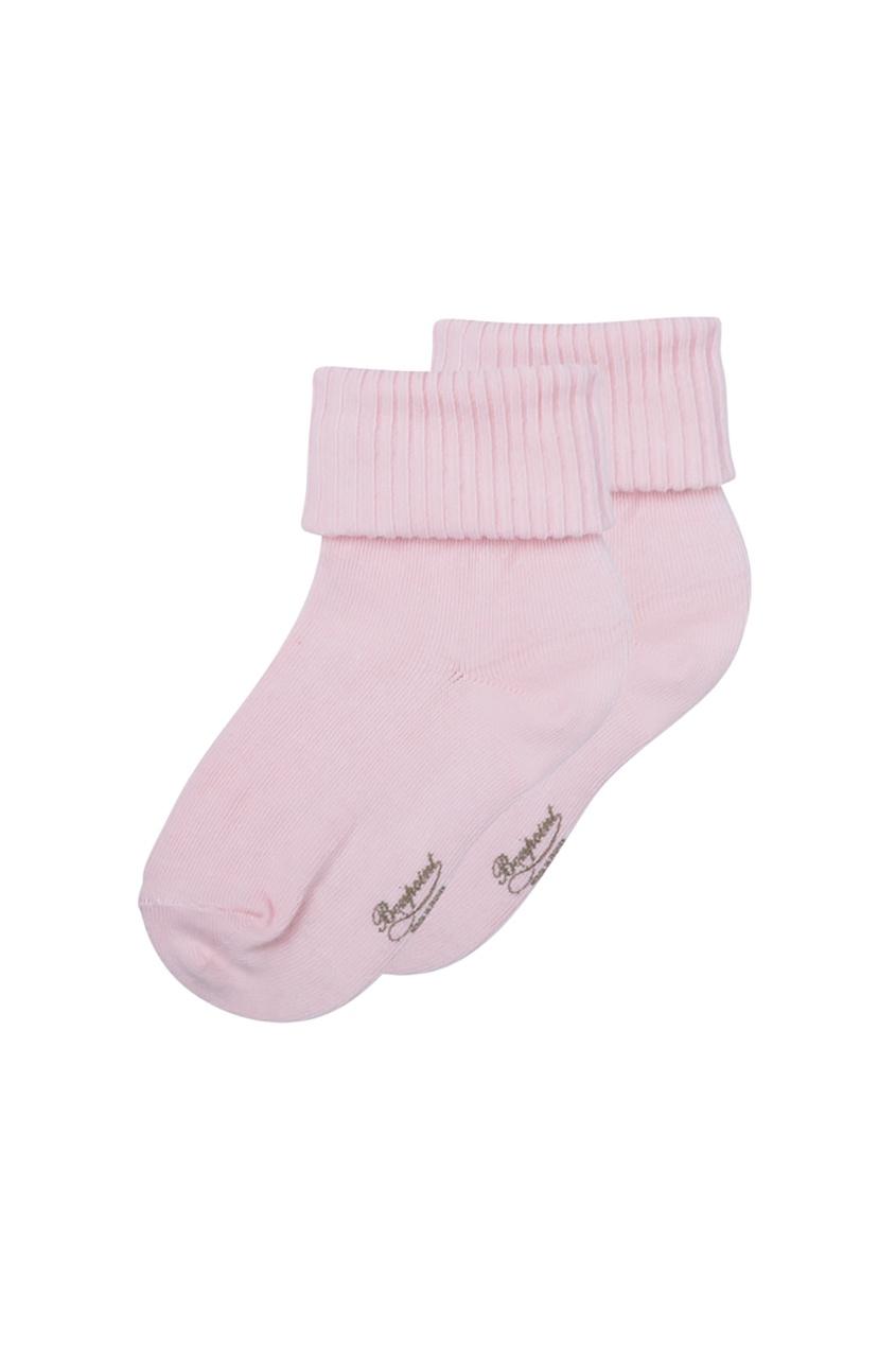 Bonpoint Розовые хлопковые носочки с логотипом Bonpoint bonpoint вельветовые розовые брюки cookie