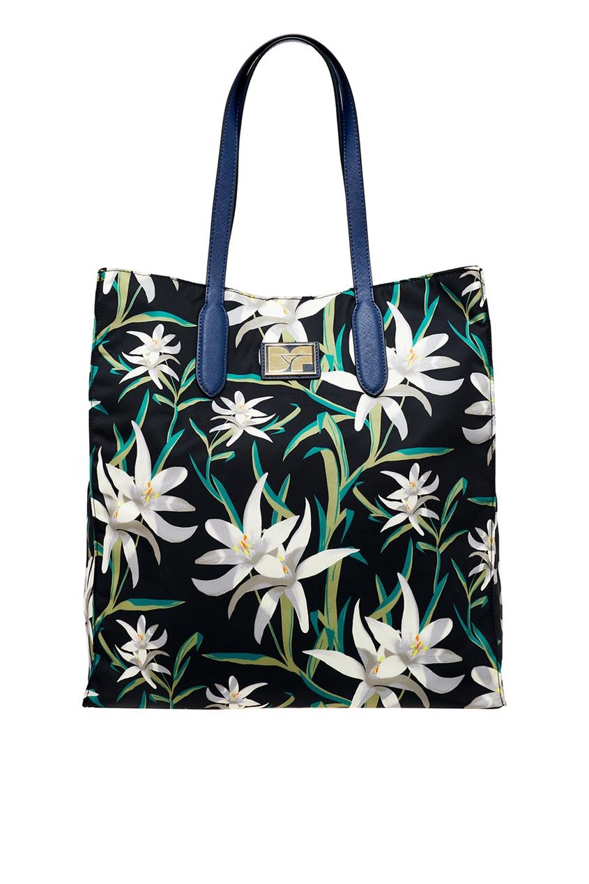 Текстильная сумка с лилиями