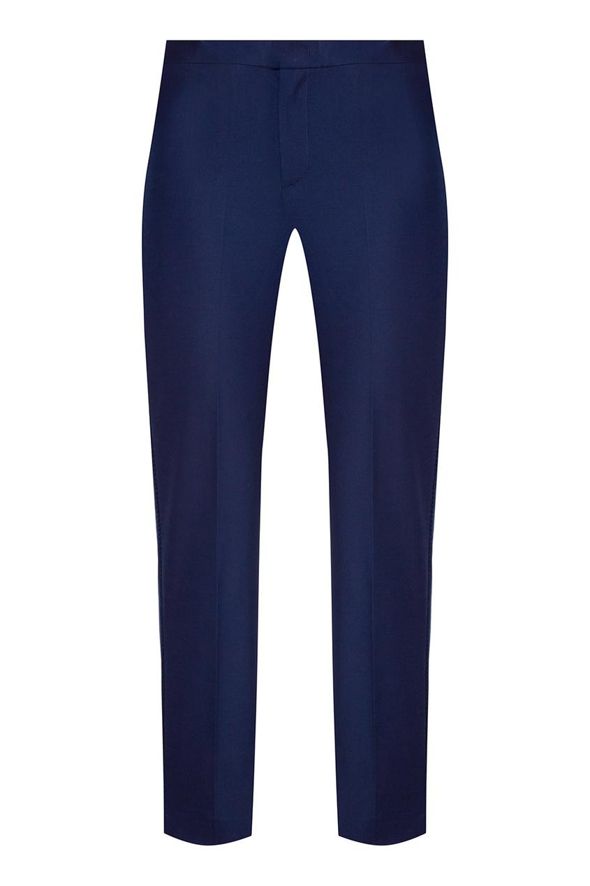 Red Valentino Синие хлопковые брюки etro синие хлопковые брюки