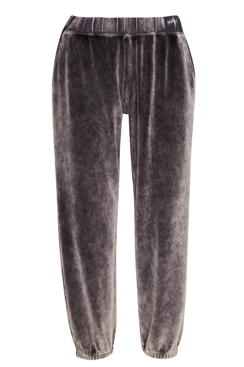T by Alexander Wang Серые брюки из хлопкового бархата t by alexander wang классические брюки