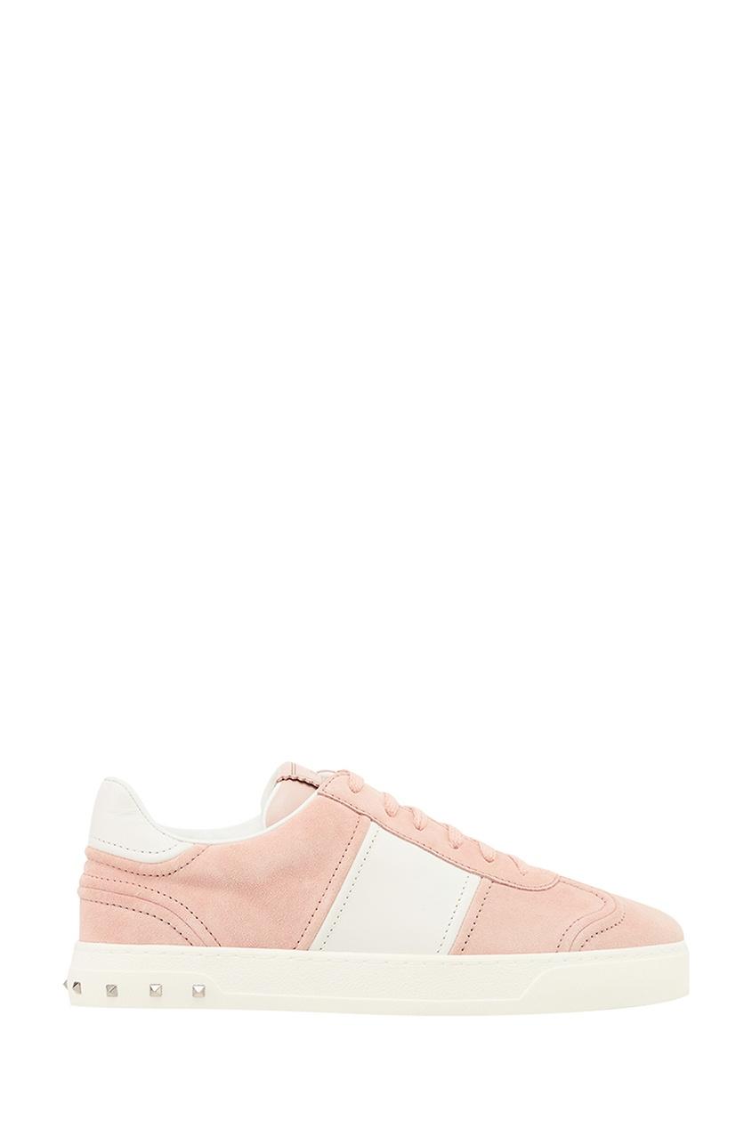 Valentino Розовые кроссовки из замши Flycrew