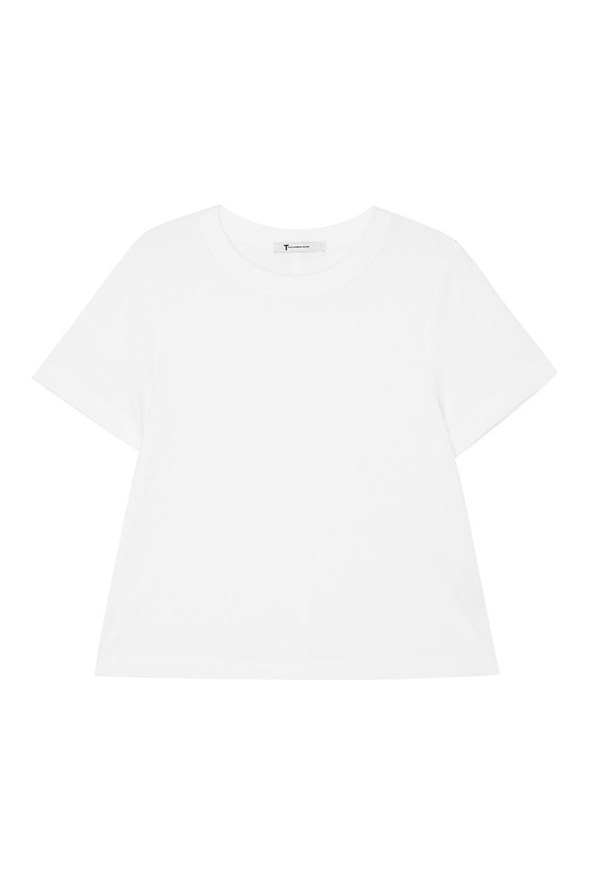 T by Alexander Wang Белая футболка из хлопка футболка белая catimini ут 00011611