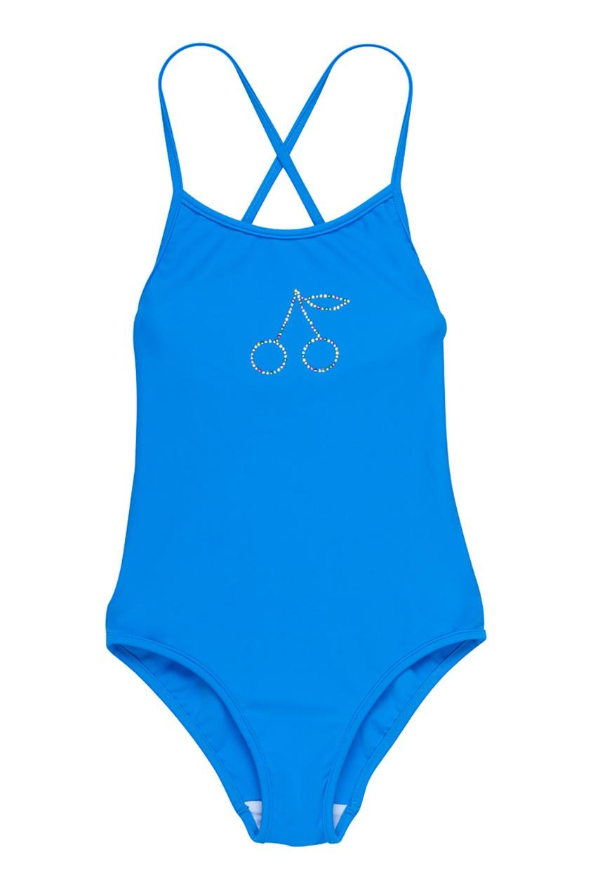 Bonpoint Слитный купальник синего цвета жалюзи в спб синего цвета