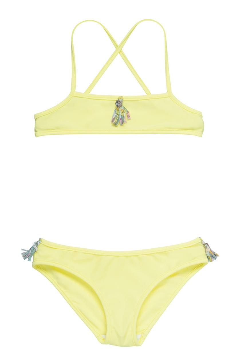 Bonpoint Раздельный купальник лимонного цвета раздельный купальник lady lux купальник ll190t