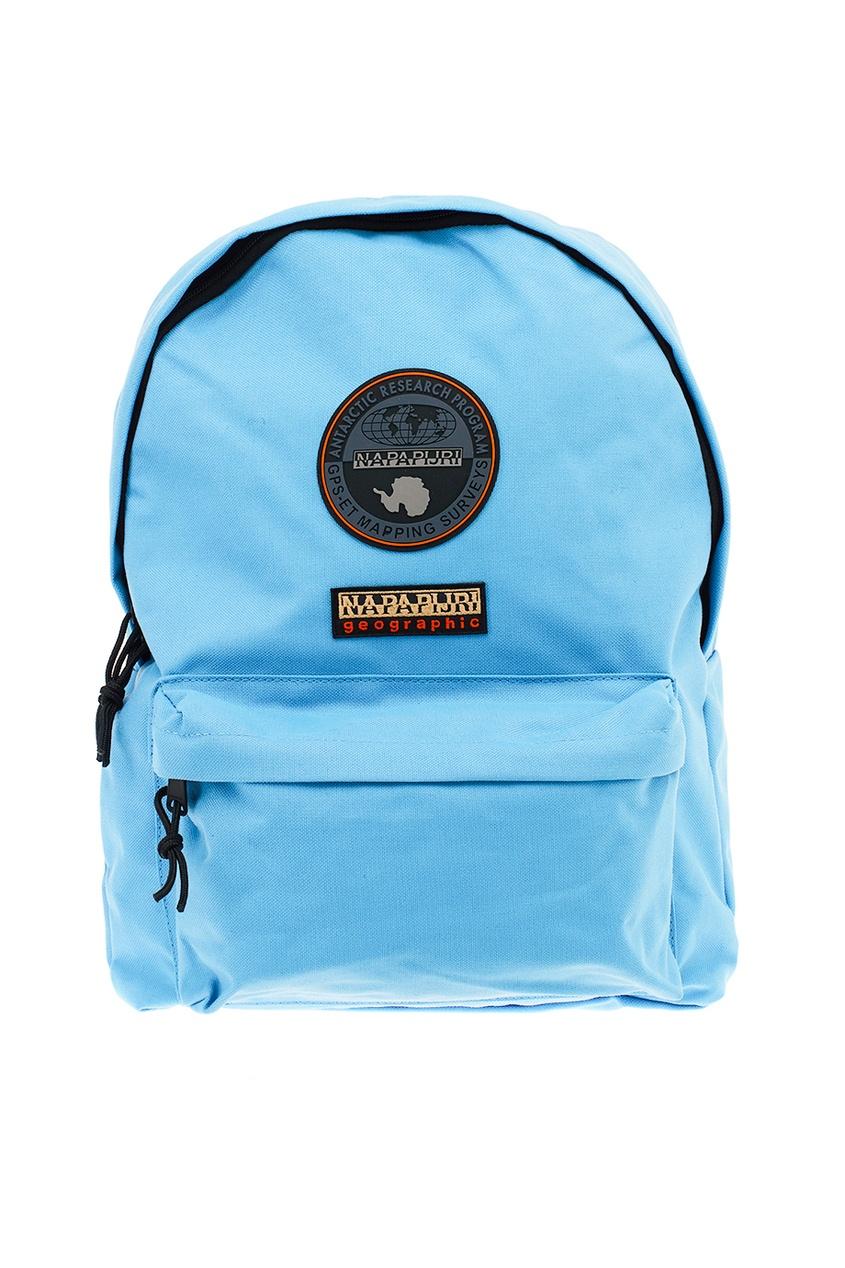 Голубой текстильный рюкзак