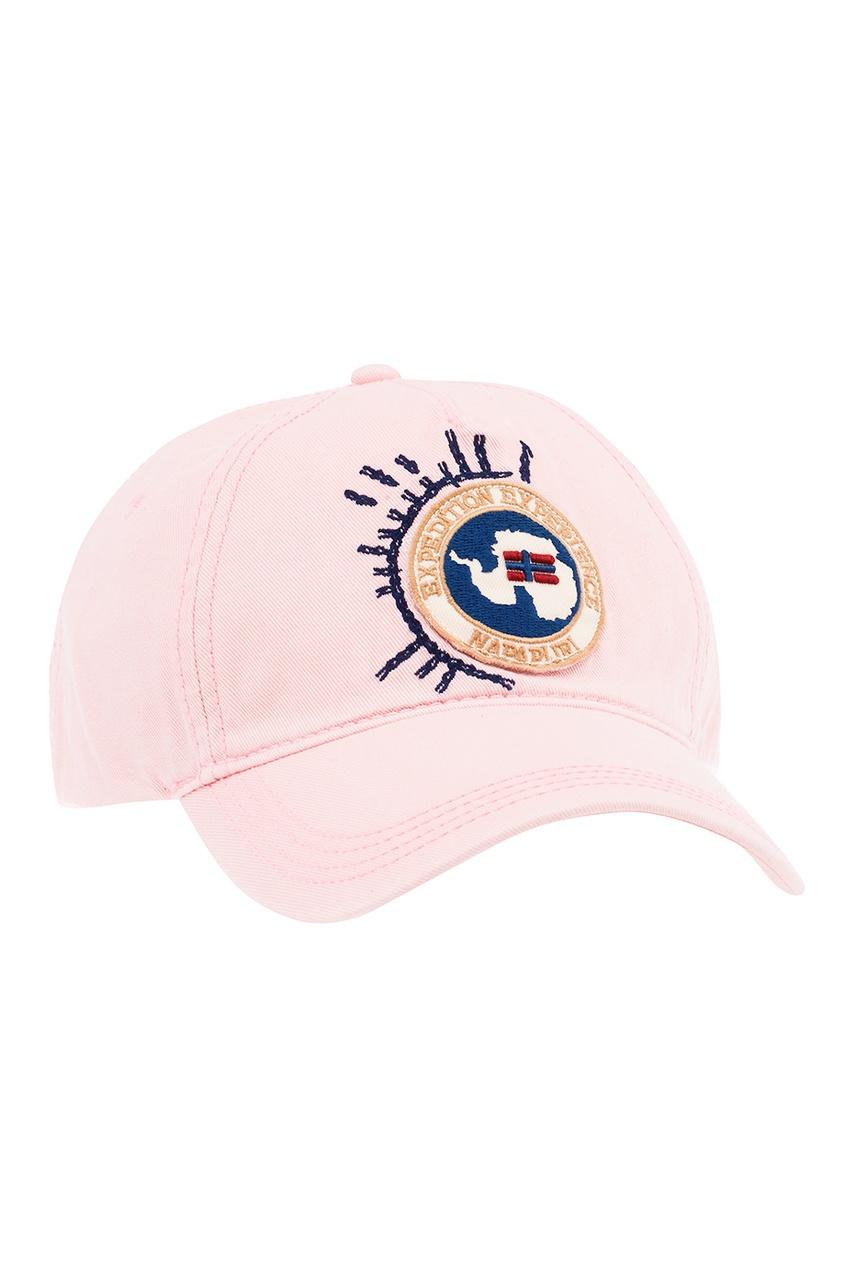 Napapijri Розовая хлопковая кепка с нашивкой