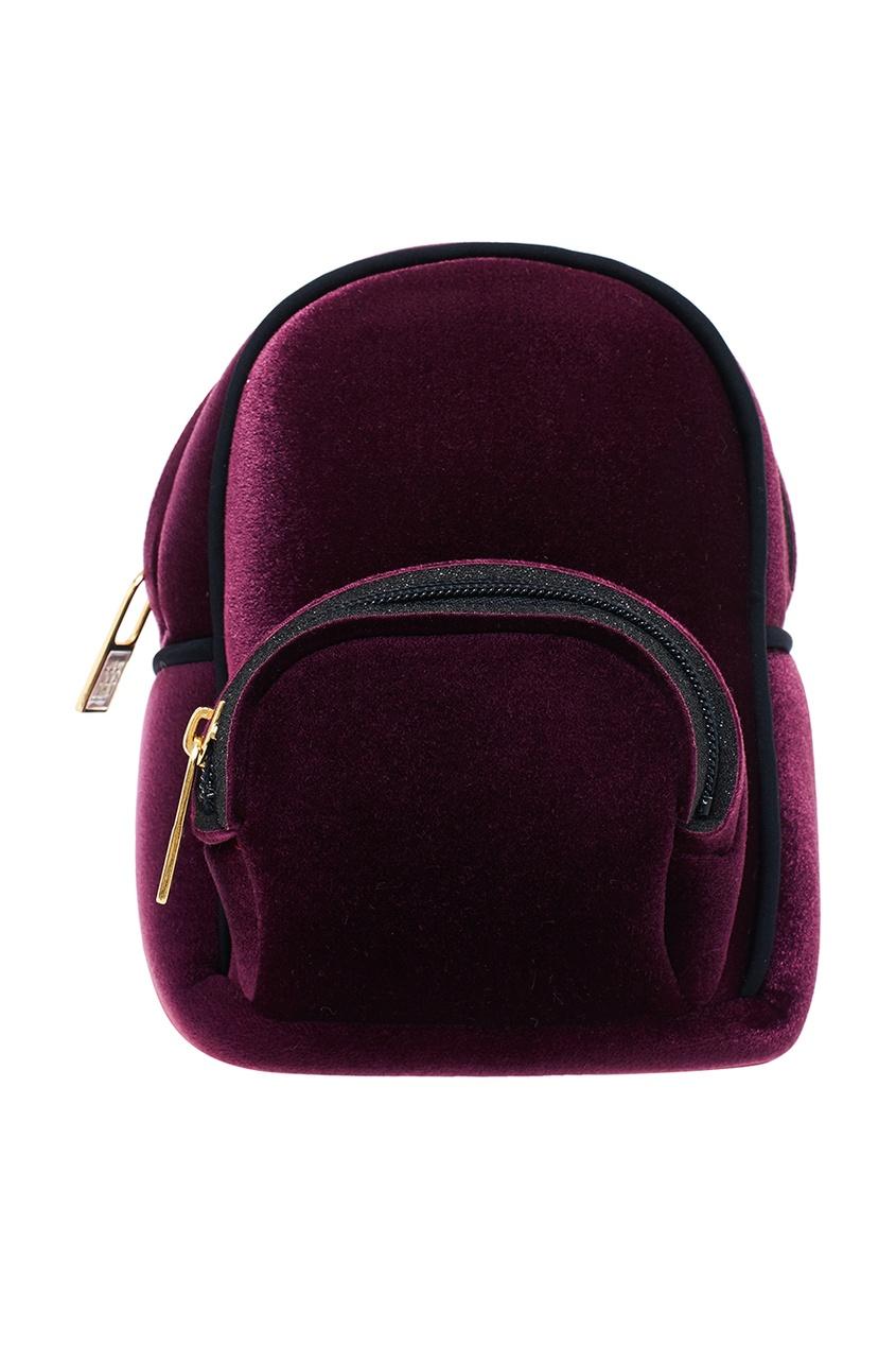 Фиолетовый бархатный мини-рюкзак
