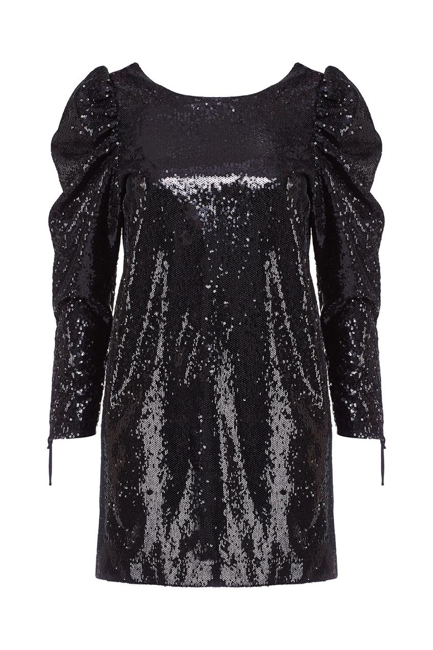 Nineminutes Черное платье с пайетками nineminutes платье до колена