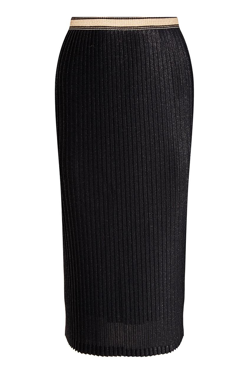 Плиссированная юбка-миди на резинке