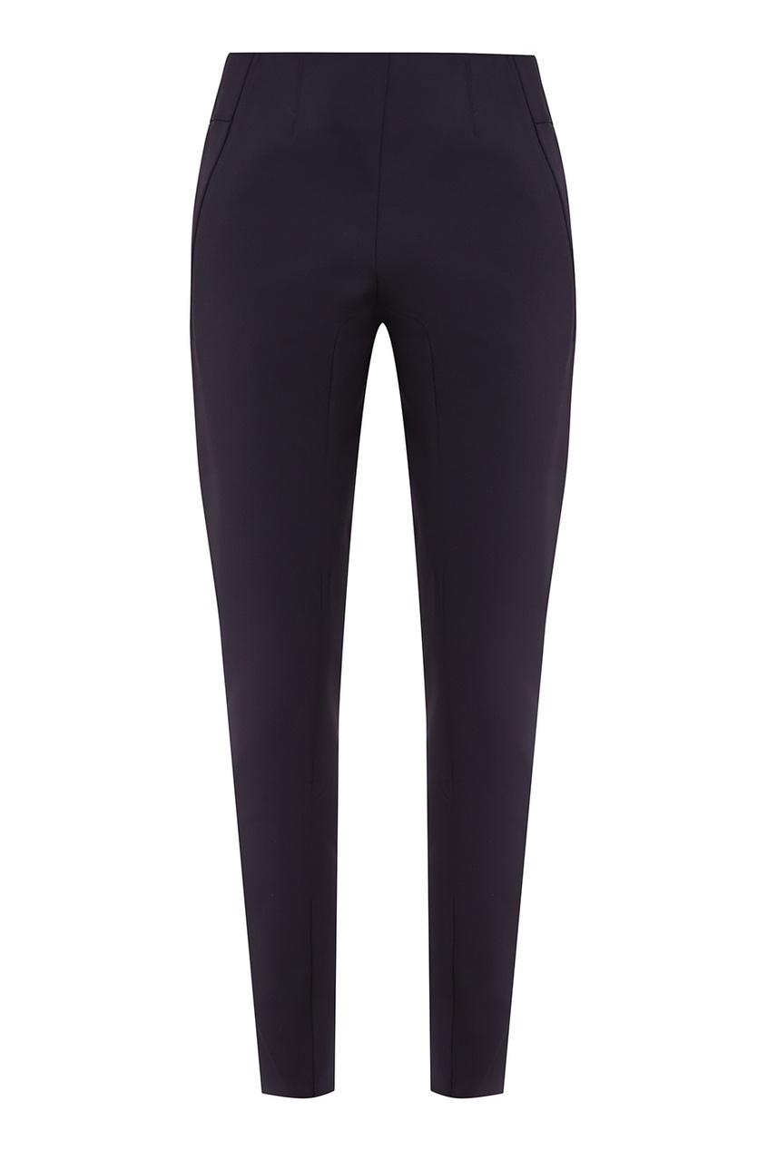 Укороченные черные брюки