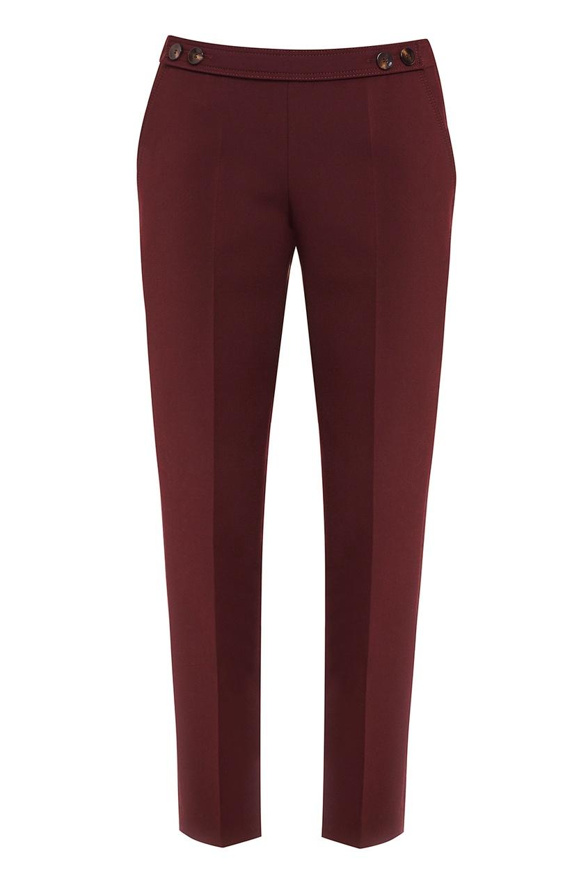 Бордовые брюки со стрелками