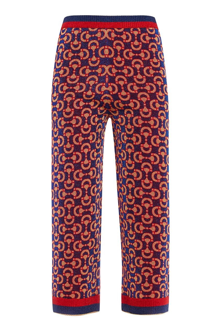 Gucci Широкие брюки с узором elizabeth and james широкие брюки