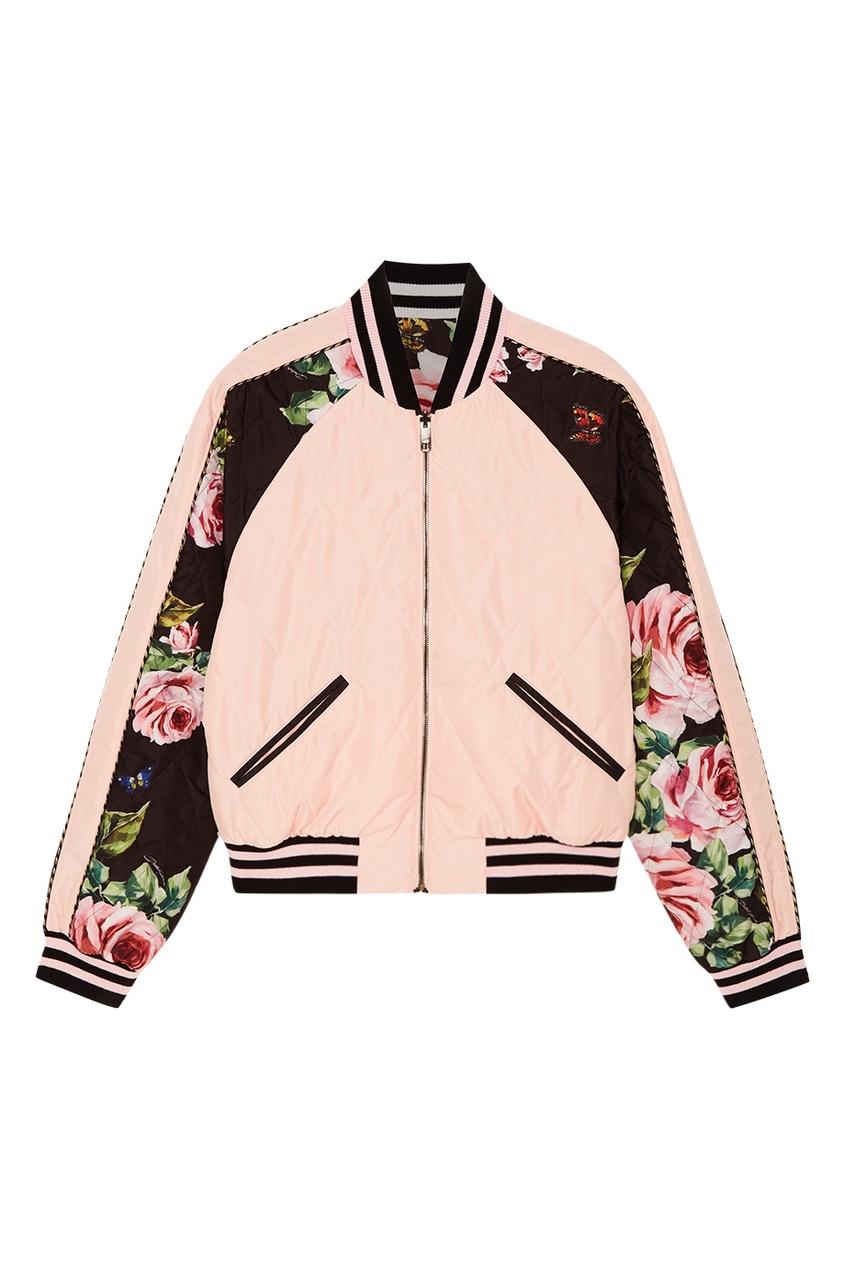 Dolce&Gabbana Двусторонний бомбер с цветочным принтом бомбер printio мода 2017