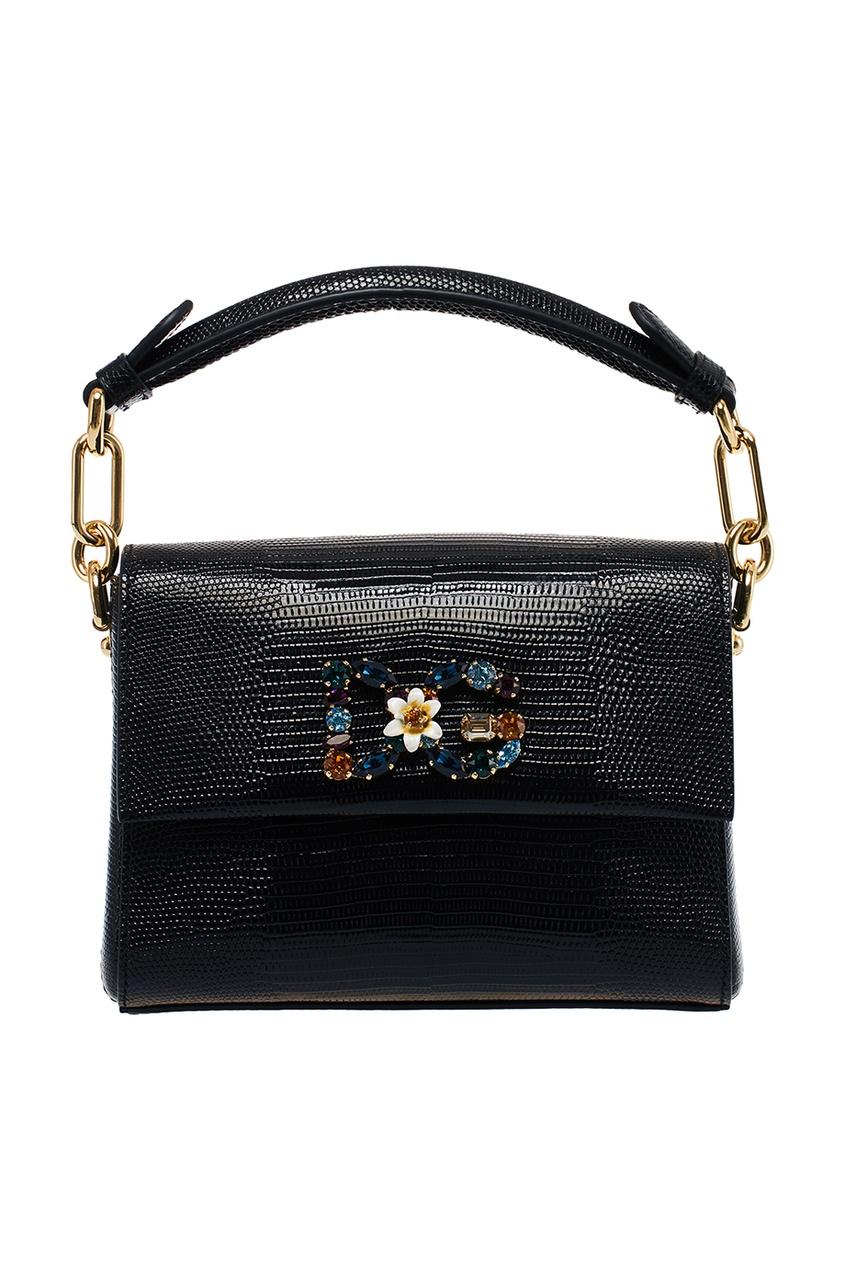 Купить со скидкой Черная сумка с кристаллами Millennials