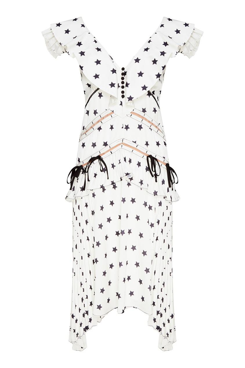 Белое платье со звездами