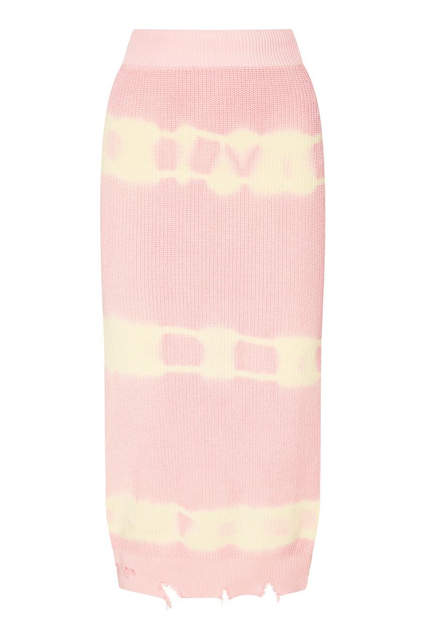 Трикотажная юбка tie dye
