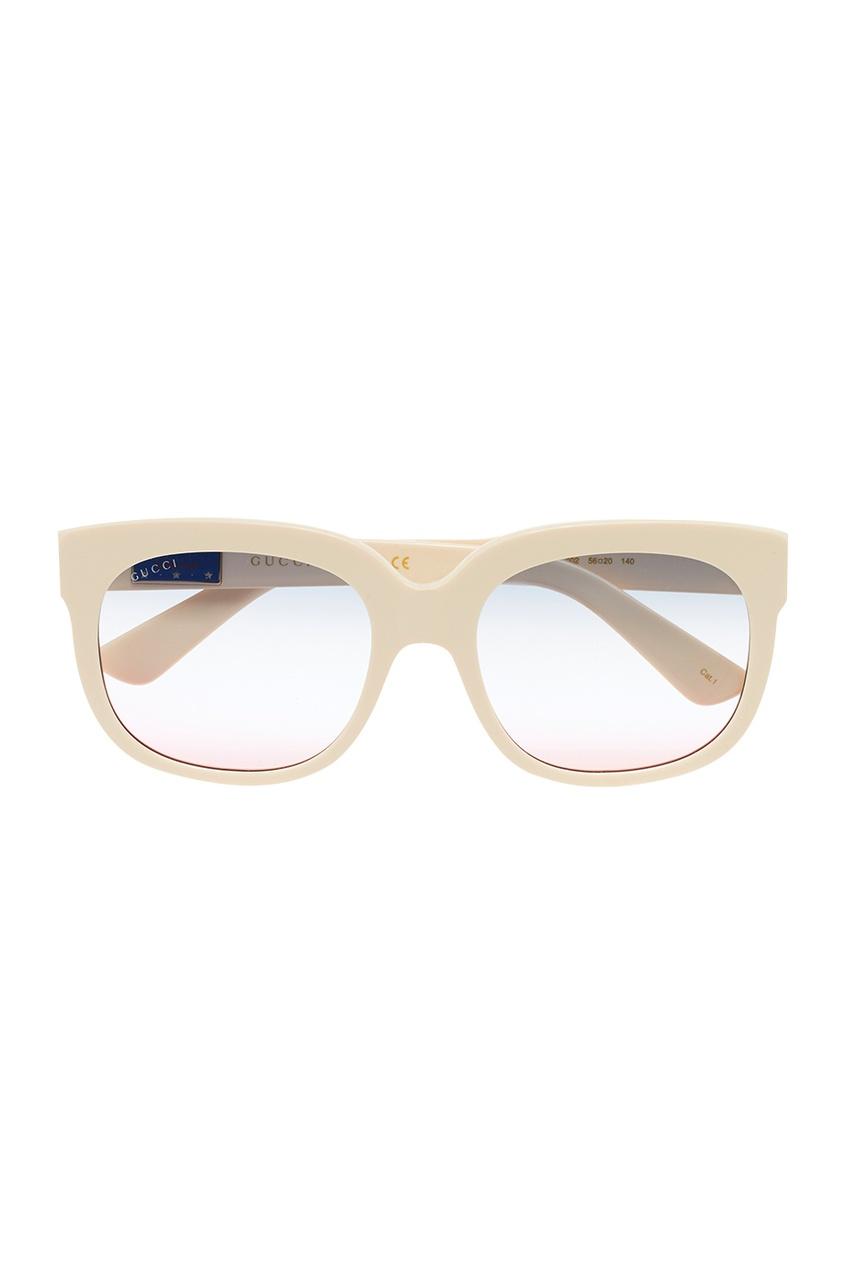 Gucci Белые очки с полупрозрачными линзами Elton John elton john elton john rock of the westies