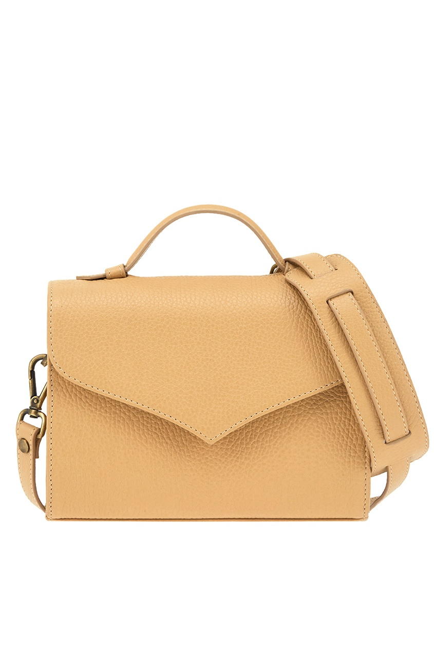 Alena Akhmadullina Бежевая сумка из зернистой кожи