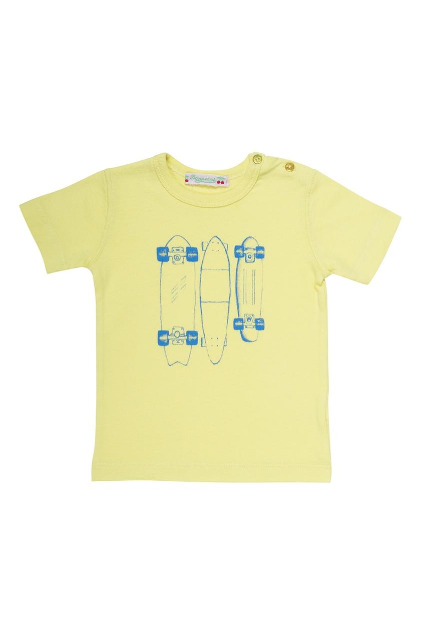 Футболка желтая хлопковая