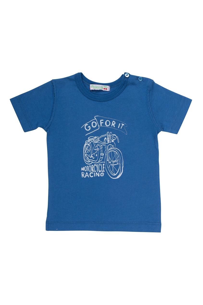 Синяя футболка из хлопка
