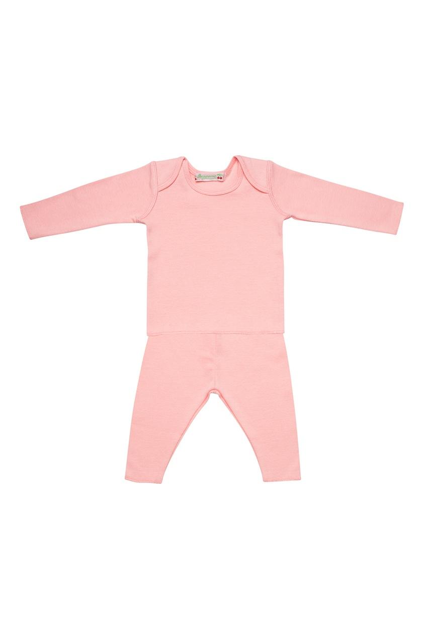 Розовый хлопковый комплект