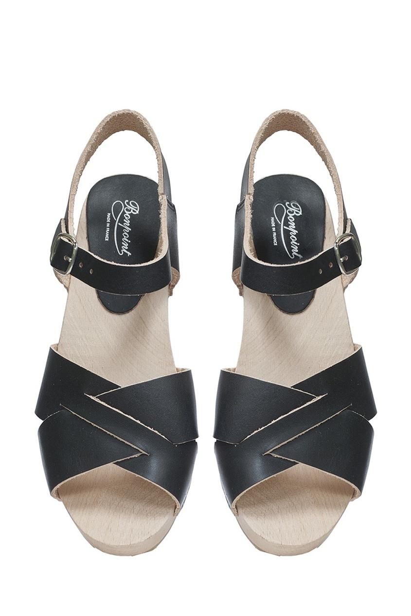Bonpoint Кожаные босоножки черные MARY босоножки кожаные  halias