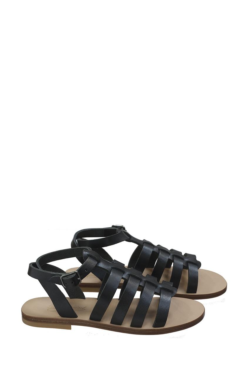 Кожаные черные сандалии RAMA от Bonpoint