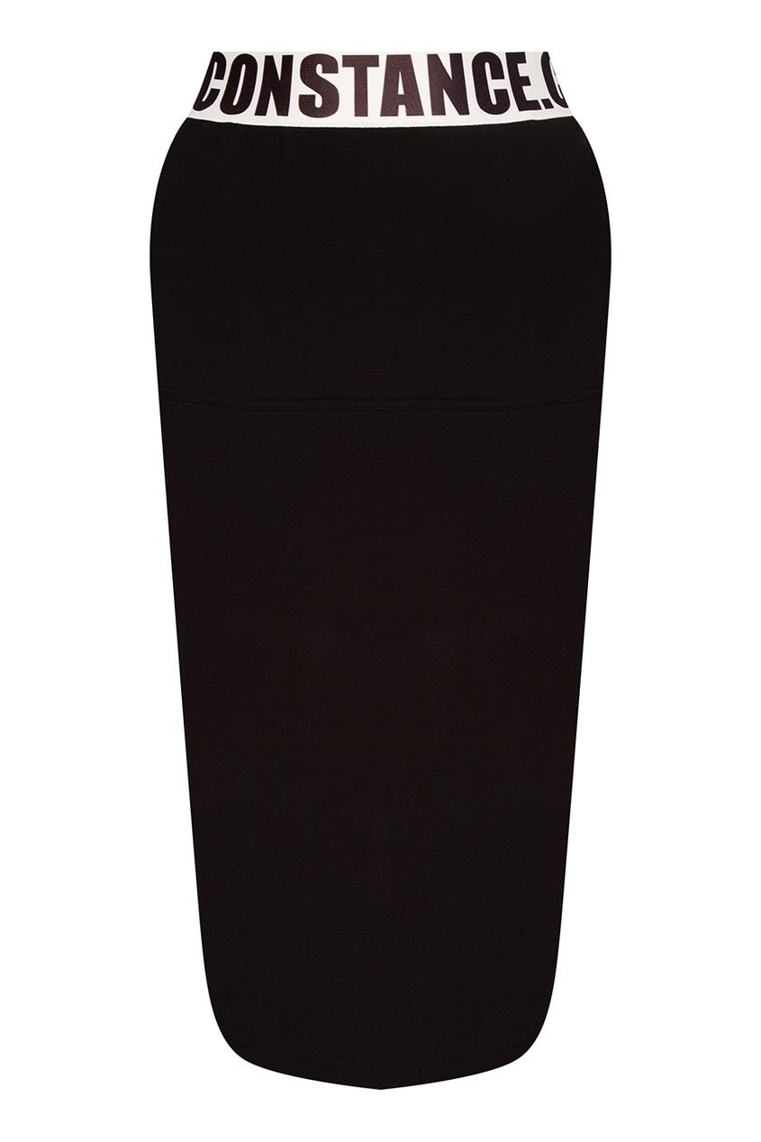 Constance. C Юбка-карандаш с контрастным поясом сорочка constance black s