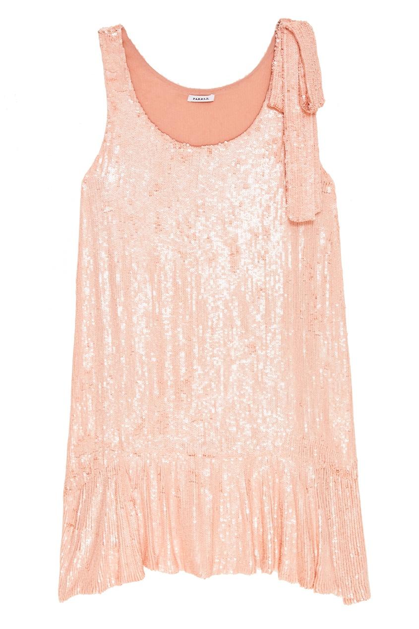 Платье с розовыми пайетками