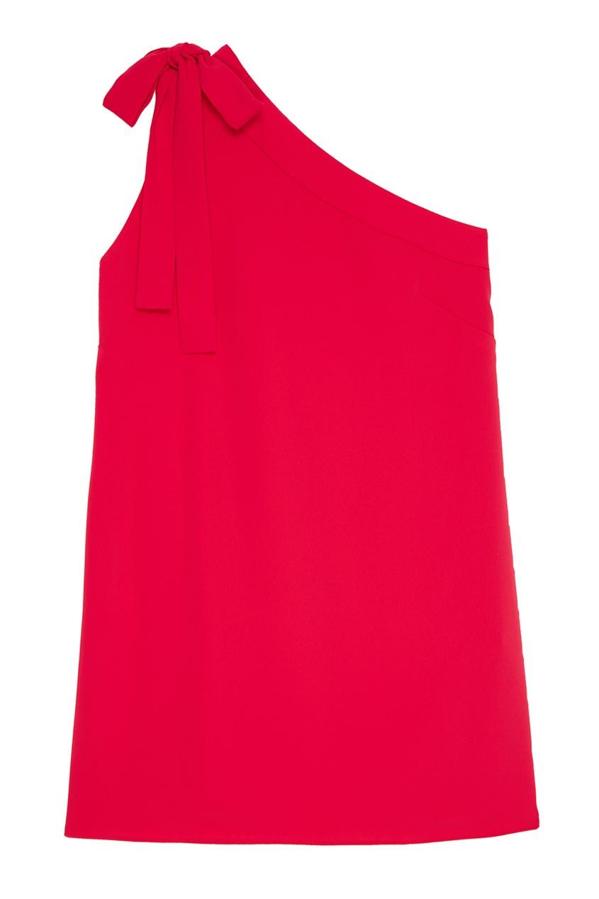 P.A.R.O.S.H. Малиновое платье с открытым плечом