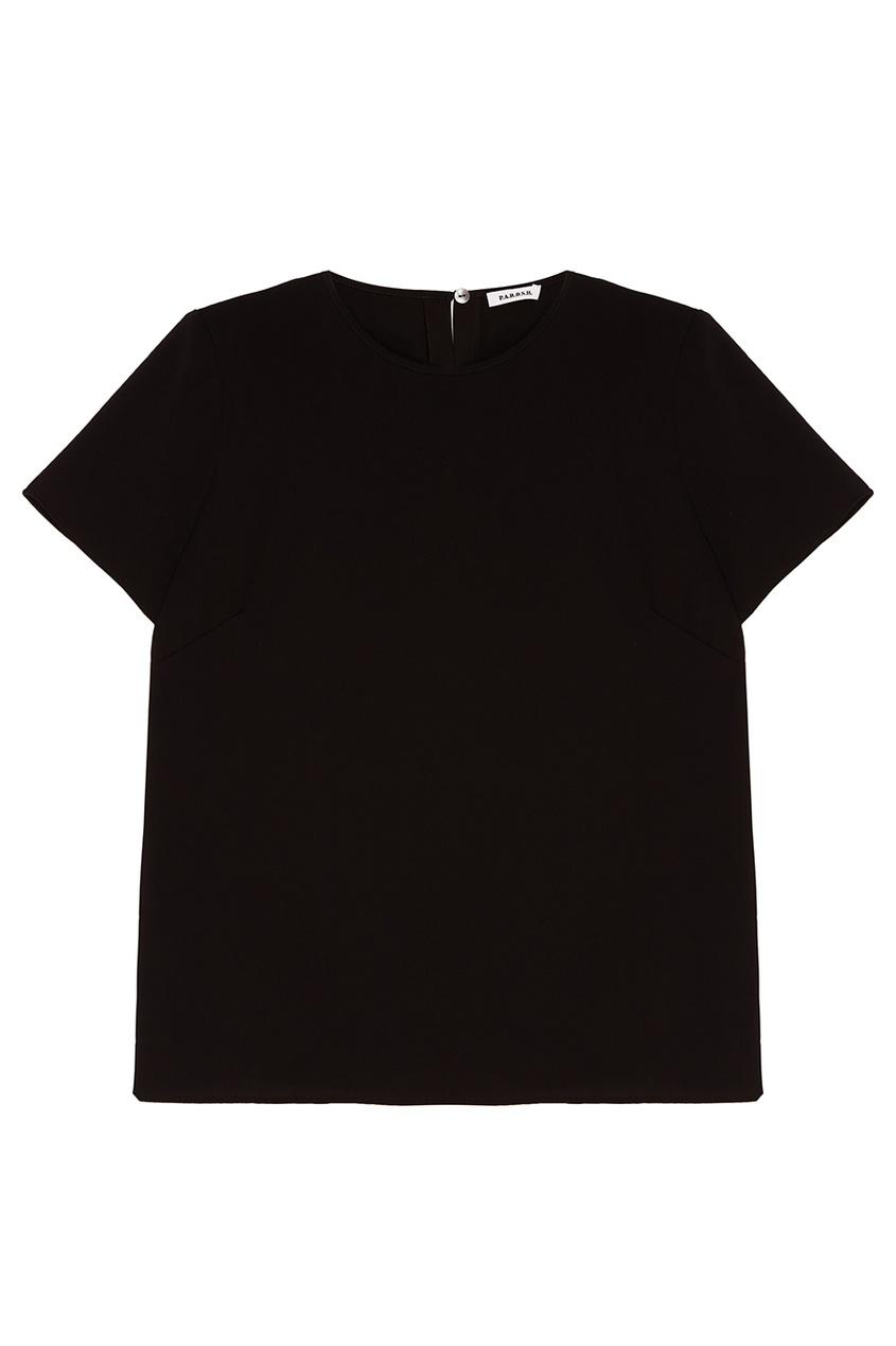 P.A.R.O.S.H. Свободный черный топ