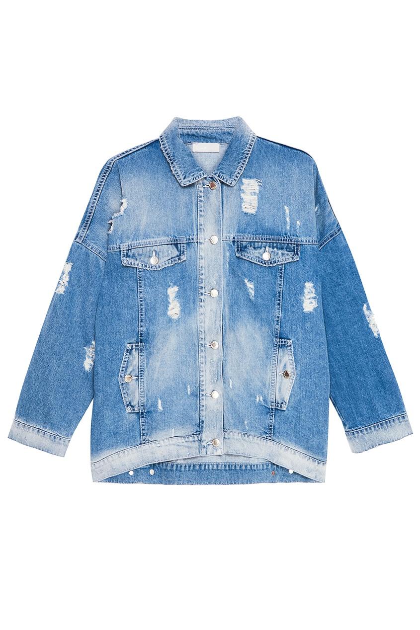 Constance. C Джинсовая куртка с потертостями constance c белые брюки с кнопками