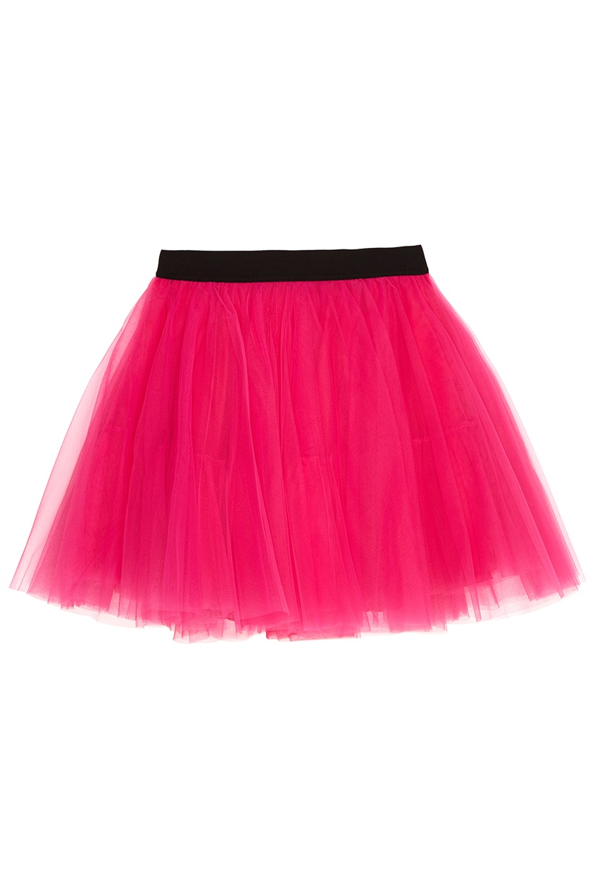 Многослойная розовая юбка