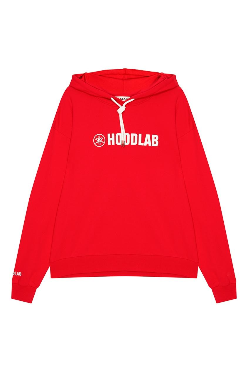 Hoodlab Красное худи из хлопка с логотипом hoodlab хлопковый комбинезон с символикой